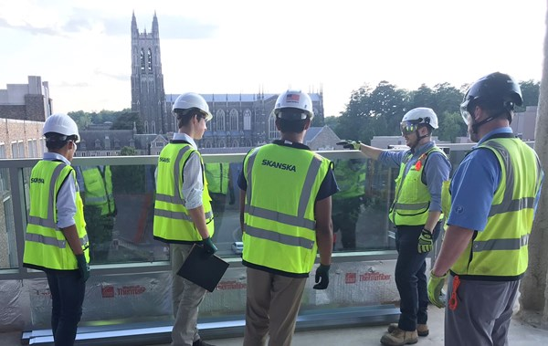 We gave the students a tour of Skanska's Pratt Engineering Building project at Duke University to give them a better understanding of construction.