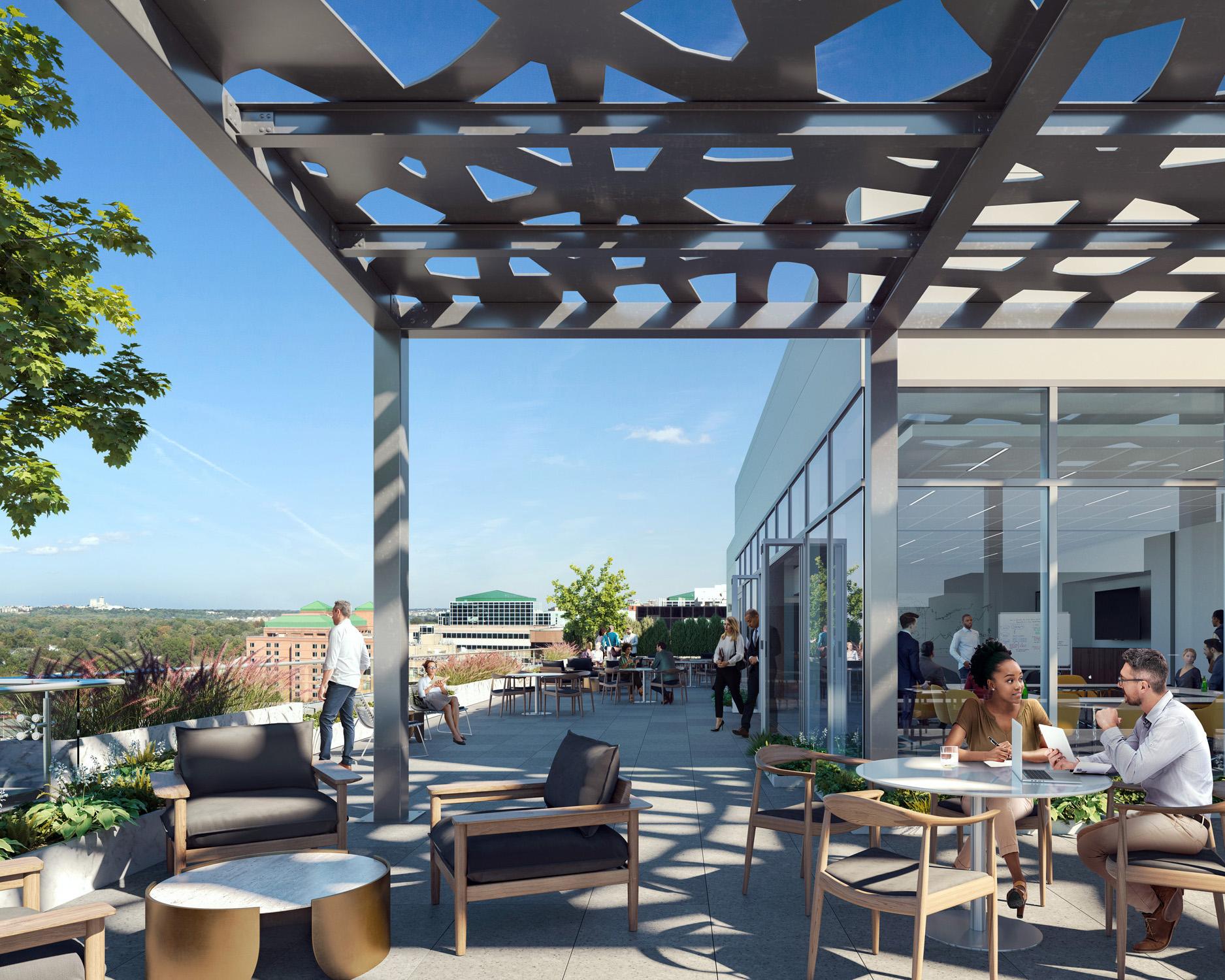 3901 Fairfax Drive Rooftop Terrace