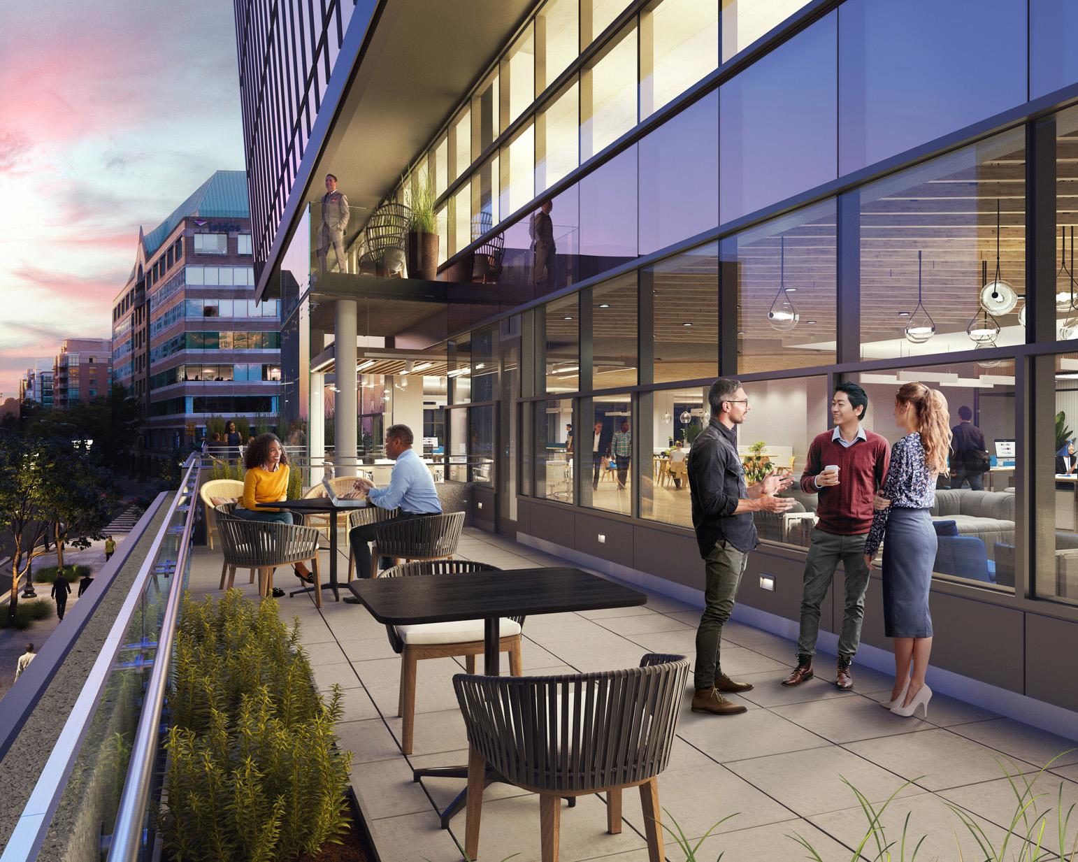 3901 Fairfax Drive Second Floor Terrace