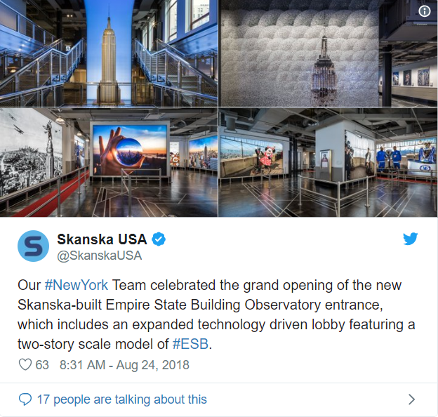 Empire State Building Observatory Entrance opens—64 likes