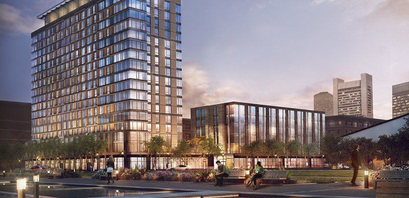 Luxury residential tower and loft offers contemporary living in the heart of Seaport District