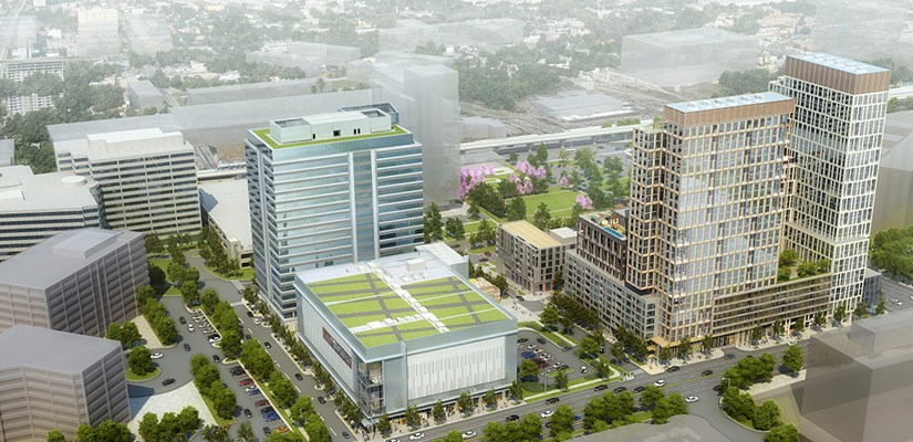 Boro - an office building and movie theater in Tysons Corner.