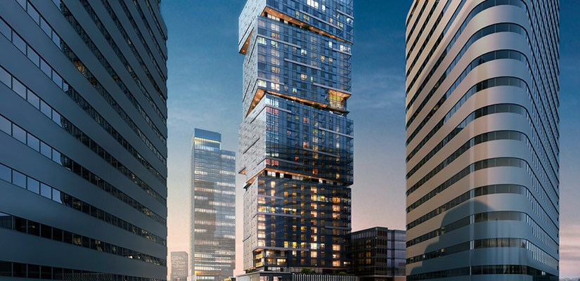 NEXUS, a 40-story, 382-unit high rise residential condominium tower