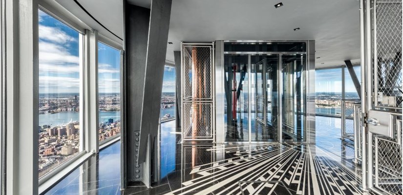 102nd Floor Observatory with 360-degree floor-to-ceiling windows offering unobstructed, panoramic views of the city
