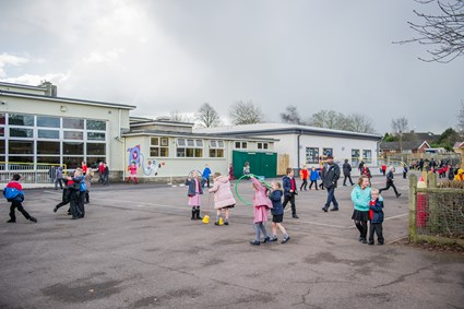 Outdoor play at West Town Lane Academy in south Bristol