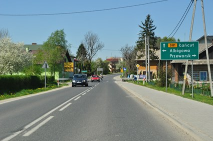 Voivodeship road No. 881, section Lancut - Kanczuga